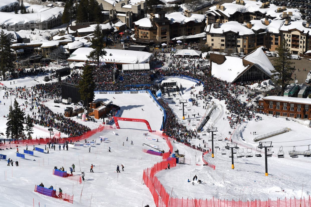 The Red Dog run at Squaw Valley, all prepped for Saturday's races.