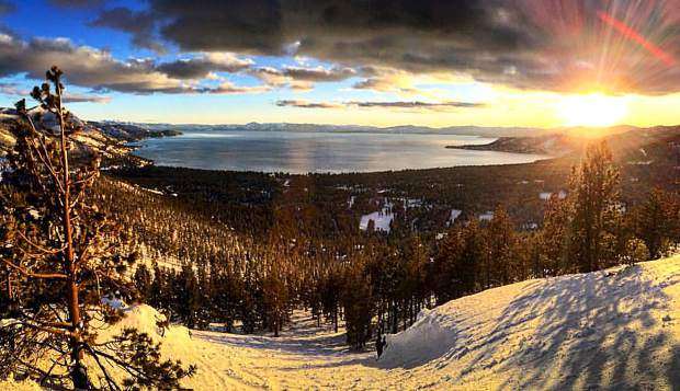 Stunning Sunset: A look at the Sierra sun setting above Lake Tahoe on Feb. 28, as seen near Mt. Rose. Photo: Conor McAlindin