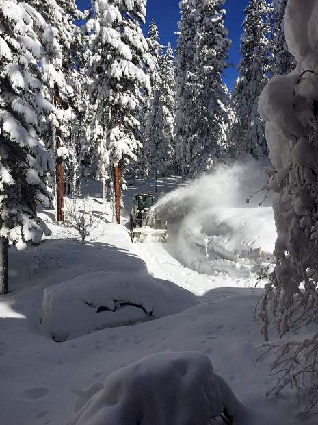 Help Is On The Way: A look at Margie Lockwood's front yard in Tahoe Vista on Feb. 22, after the latest big snow dump. Photo: Margie Lockwood