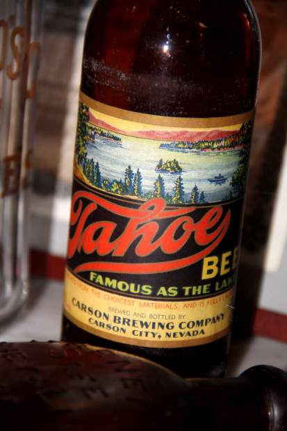 An original bottle of Tahoe Beer, once brewed in Carson City.