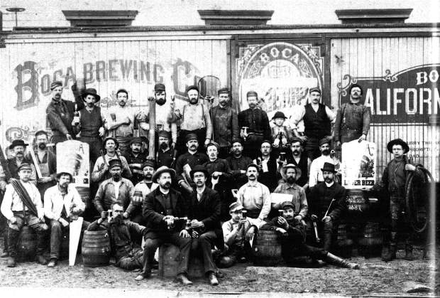 The proud — mostly German — workers at Boca Brewery.