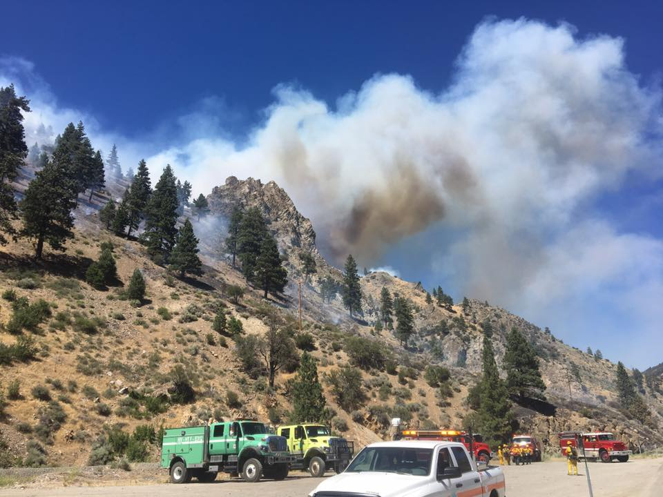 I-80 near Truckee reopens as wildfire burns nearby