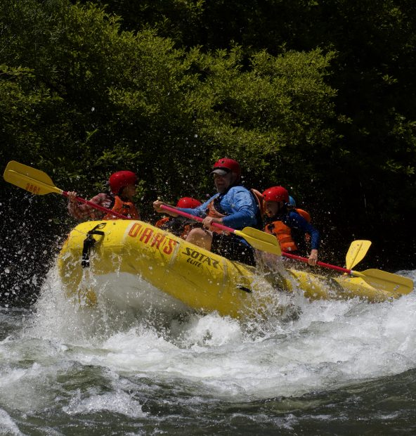 The more than 20 rapids in a span of about 21 miles on the South Fork of the American River can satisfy both weekend thrill seekers and families looking for a fun adventure.