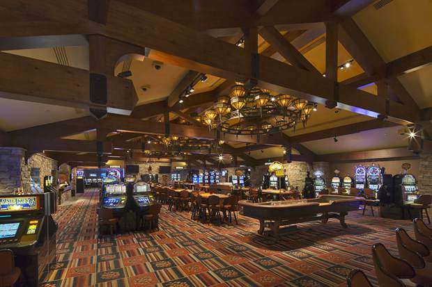 This photo shows the main casino floor in the Grand Lodge Casino before a remodel that took six months to complete.