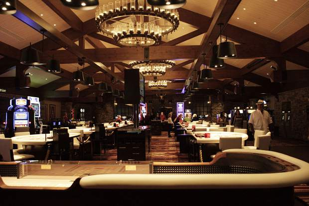 The Grand Lodge Casino's makeover included new chandeliers, custom table games, and new slot machines.
