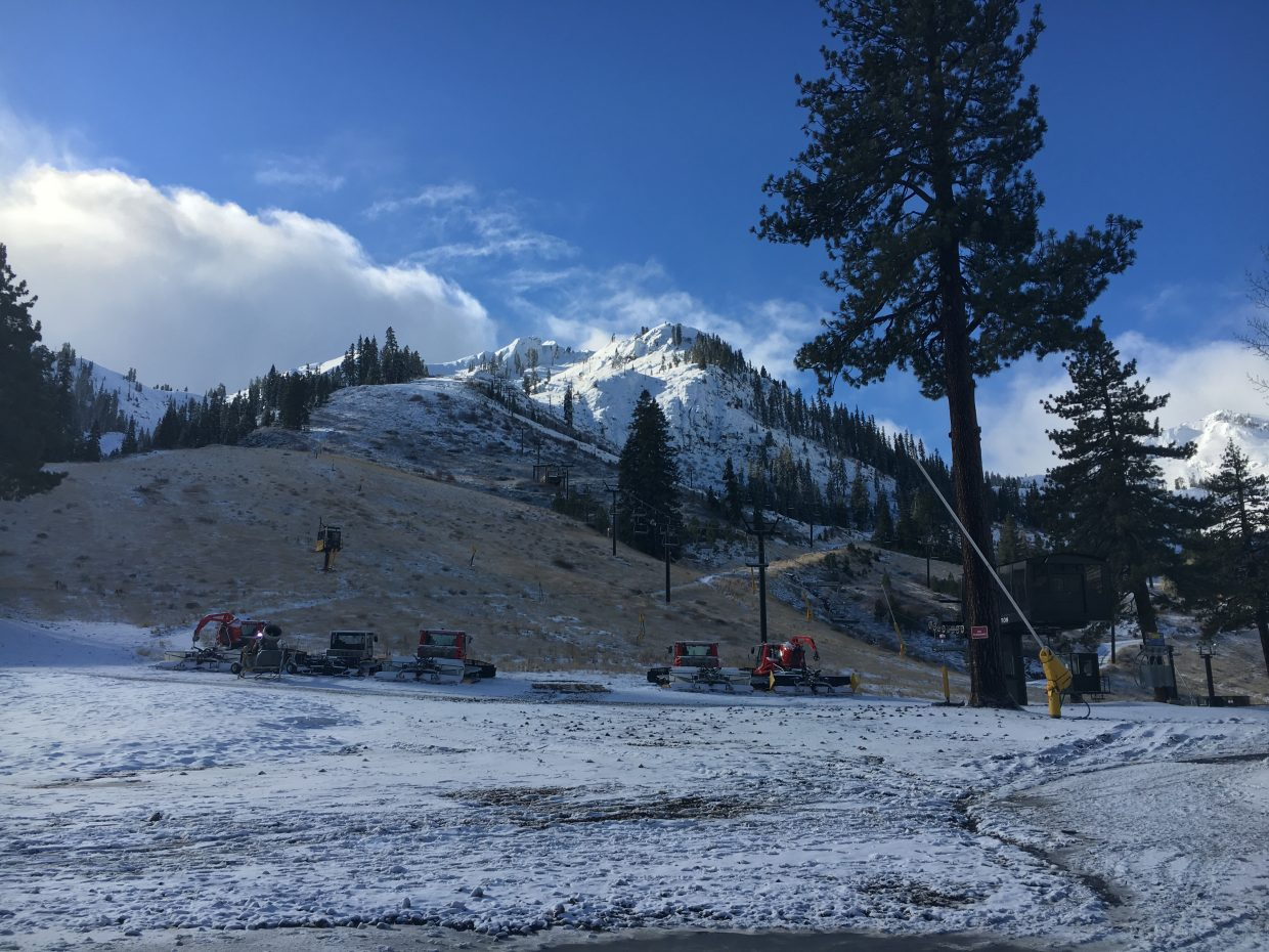 Squaw Valley opened for the 2017-18 season on Friday, Nov. 17.