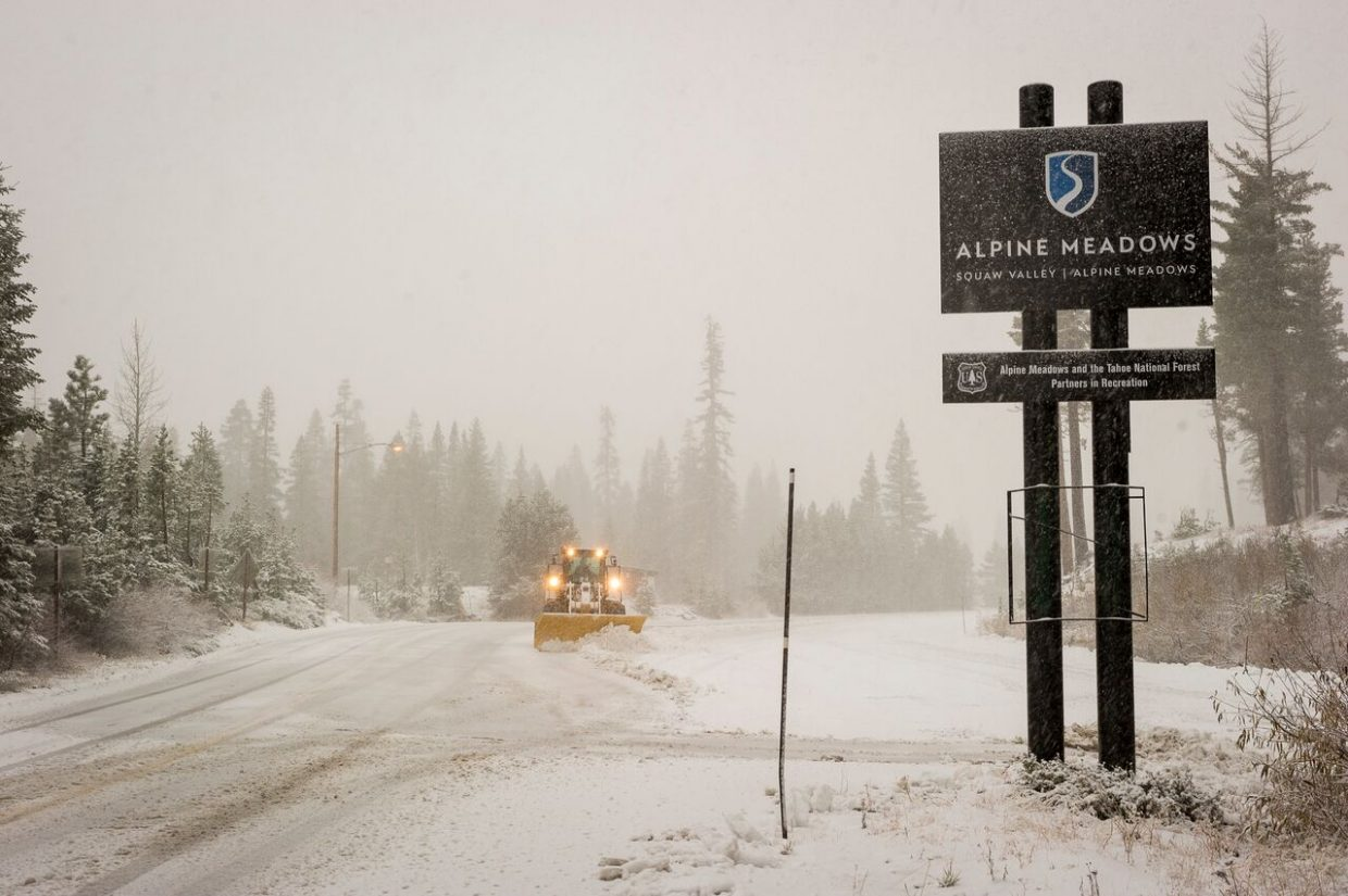 Squaw Valley Alpine Meadows received 5 inches of snow as of noon on Saturday, Nov. 4.