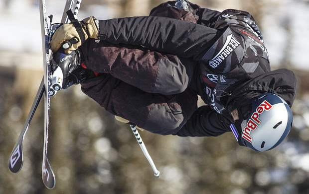 Noah Bowman of Canada competes in the halfpipe finals during the U.S. Grand Prix event Friday, Dec. 8, at Copper Mountain. Bowman took home second place with a score of 91.00.