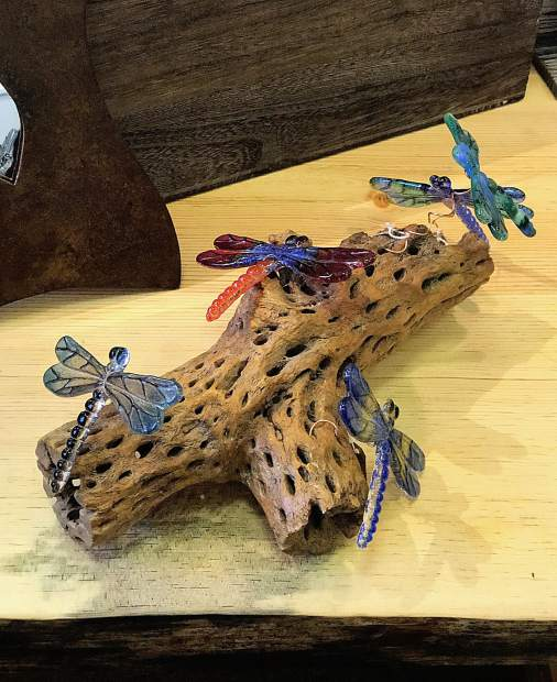There are fun glassware pieces displayed throughout the shop including everything from handmade glass dragonfly decorations to glass Lake Tahoe holiday ornaments.