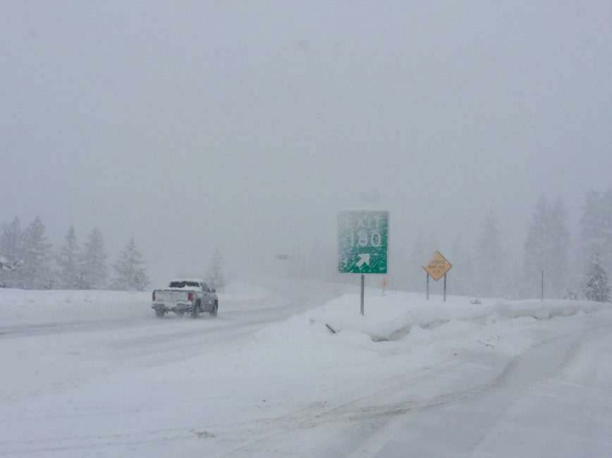 Update: Chains required on I-80 from Nyack Road to the