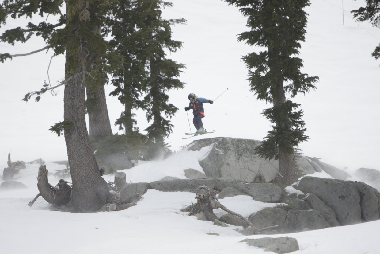 Tahoe Junior Freeride Series competition at Squaw Valley Alpine Meadows on Sunday, Feb. 11.