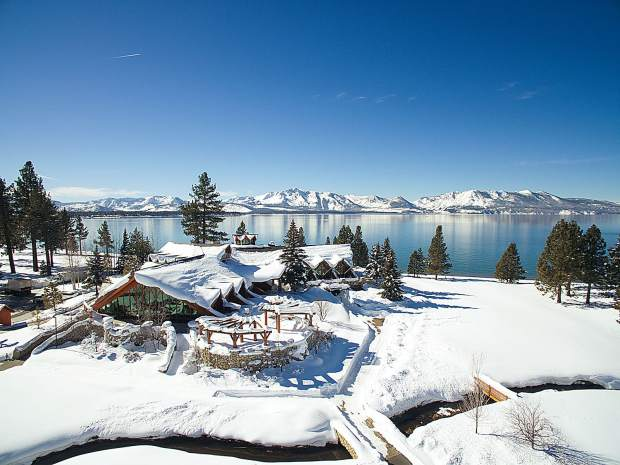Though the golf course is covered in snow, with the completion of Edgewood Tahoe's new lodge, the resort is now the perfect place for a winter vacation.