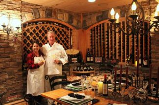 Shakespeare Rock Cellars in Lake Tahoe offers private wine paired dinners in exclusive wine cellar environment