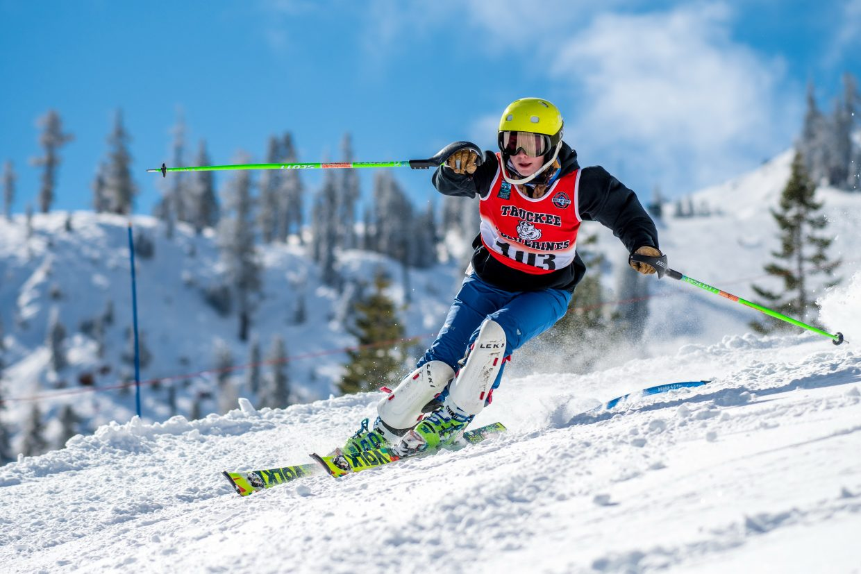 Truckee's Susie Greeno competes at the NIAA alpine state championships on Feb. 27 -28. For more race photos visit LefrakPhotography.com.