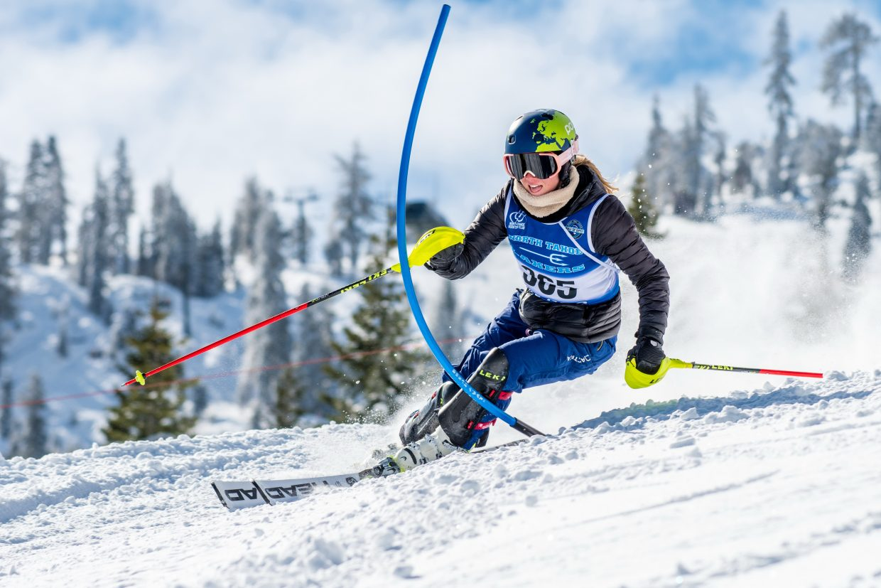 North Tahoe's Magnolia Neu finished with a first place in slalom at Alpine Meadows on Feb. 27. For more race photos visit LefrakPhotography.com.
