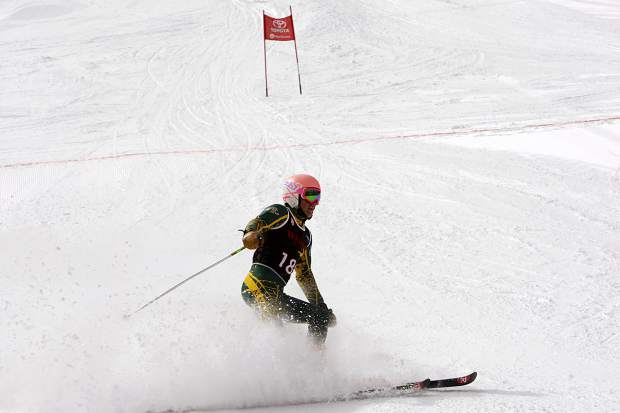 Whittell senior Payton Norton finishes in first place in giant slalom at the NIAA alpine state championships at Alpine Meadows on Wednesday, Feb. 28.