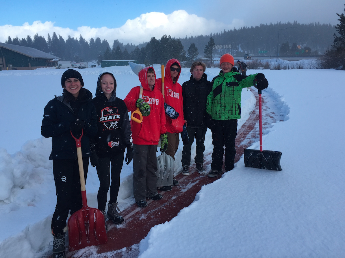 Truckee high track and team needs help in clearing snow at the track.