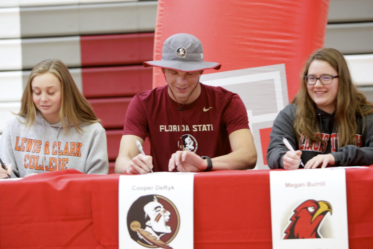 Twelve of Truckee's top athletes signed to compete collegiately at a ceremony on Thursday, May 24.