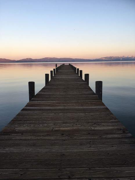 A great end to the day in Tahoe City.