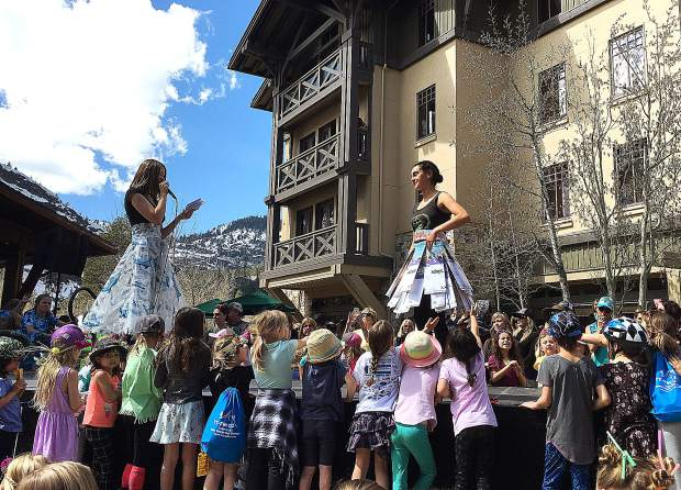 Tahoe Truckee Unified School District students put on another awesome Trashion Show at Earth Day Festival.
