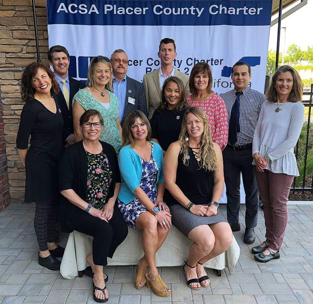 Five of Tahoe Trucked Unified teachers, celebrating here with school administrators, earned the 2018 Placer County Teachers Who Make a Difference award, including Stacey Bluestein of Alder Creek Middle School, Brooke McCaffrey of Cold Stream Alternative, Jessi Ernst of North Tahoe High School, Kirby Reed of Truckee High School, and Michele Forsberg, of Truckee Elementary.