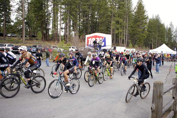 Roughly 600 cyclists pedaled out of Riverview Sports Complex for the start of the Sagan Fondo.