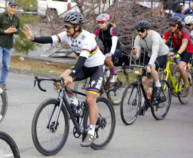 The Sagan Fondo festivities began on Thursday, May 3, with a fundraising gala that, according to race organizers, raised more than $97,000 for Adventure Risk Challenge, King Ridge, Foundation, and The Specialized Foundation.