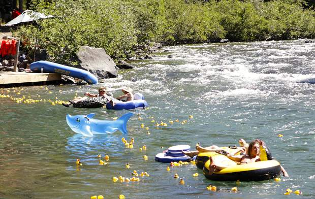 The Truckee Duckee Derbee went off on Sunday, June 24, sending hundreds of rubber ducks down the Truckee River in support of the Humane Society of Truckee-Tahoe.