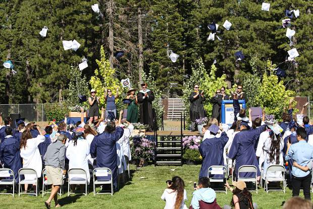 North Tahoe High School awarded diplomas to 64 students on Thursday.