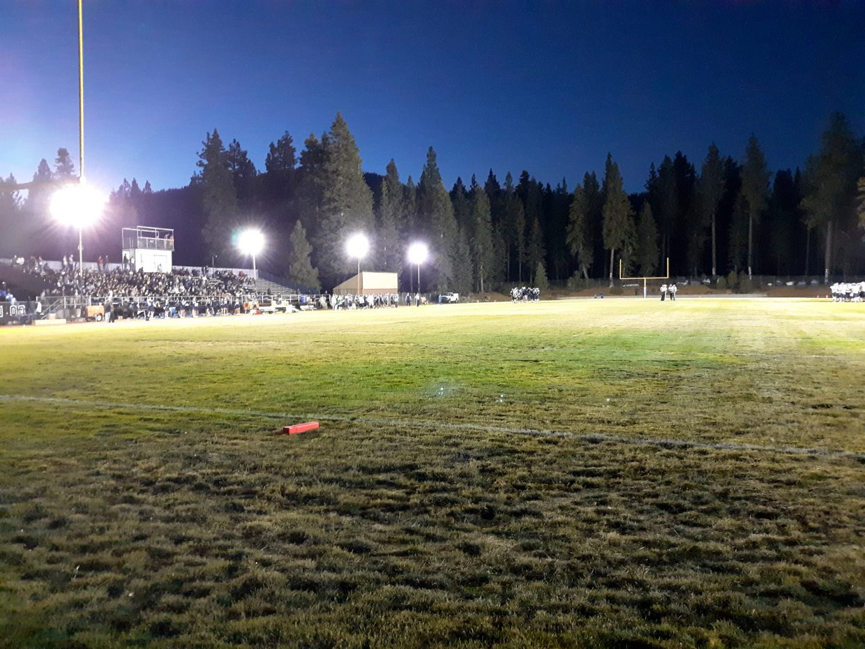 North Tahoe had its biggest crowd in roughly 15 years for the school's first ever Friday night home game.