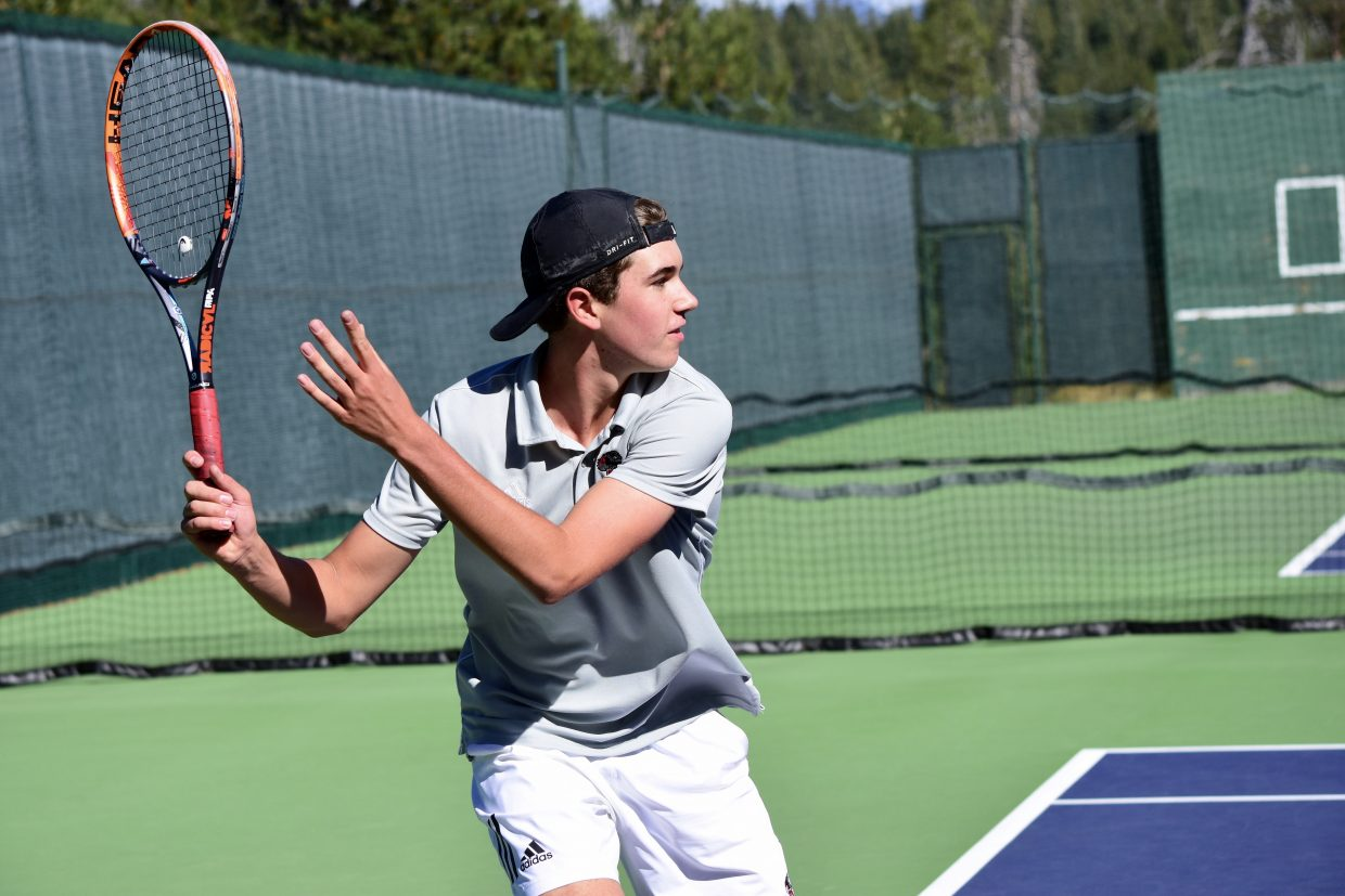 Senior Noah Warren captured a doubles state championship last season.