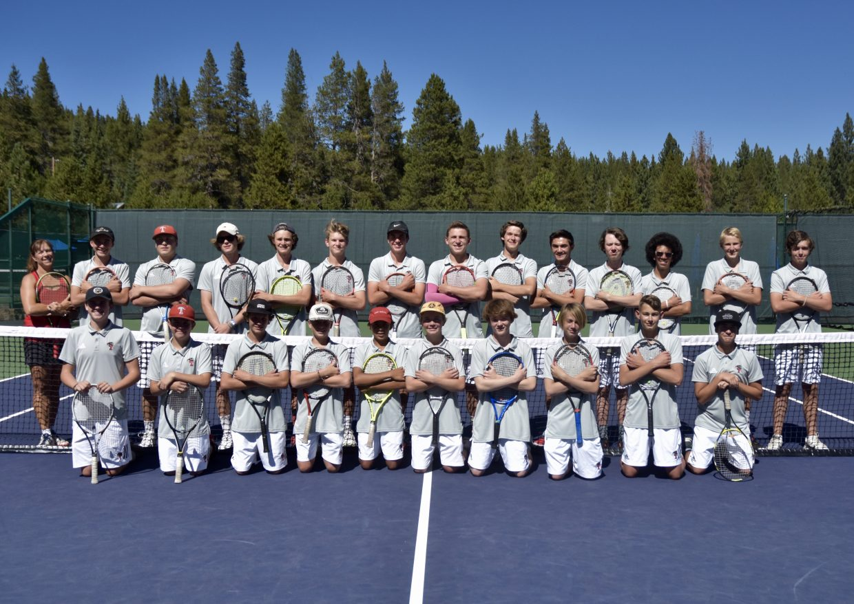 The Truckee boys' tennis team is a win away from going 10-0 for the second straight season.