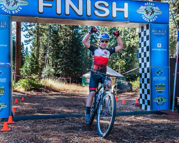 Truckee's Matt Seline takes first overall in the Classic Bike distance at the Great Trail Race. For more photos, visit LefrakPhotography.com