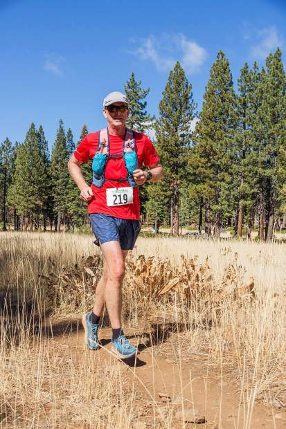 Scott Montgomery, of Truckee, runs to fifth overall at last Sunday's Great Trail Race. For more photos, visit LefrakPhotography.com
