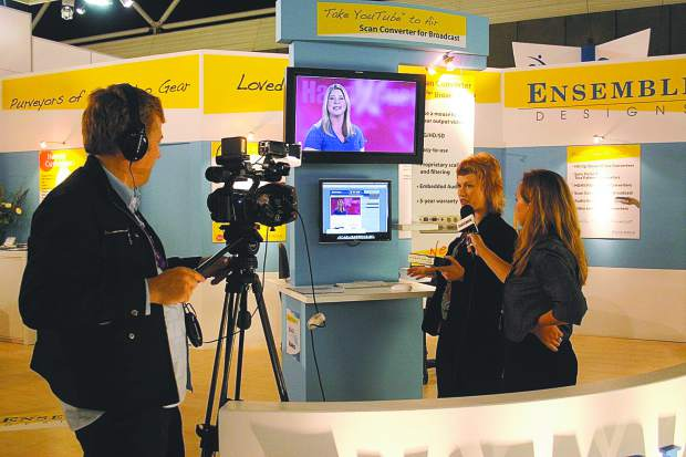 Ensemble Designs Marketing Director Cindy Zuelsdorf is interviewed by Broadcast Engineering after the company's video converter was selected as a Pick Hit at the International Broadcast Conference in Amsterdam in 2009. Ensemble Designs is one of several companies contributing to Nevada County's tech economy.