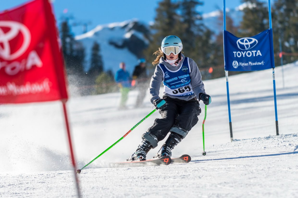 Eva Turk races to a seventh-place finish. For more alpine photos, visit LefrakPhotography.com.