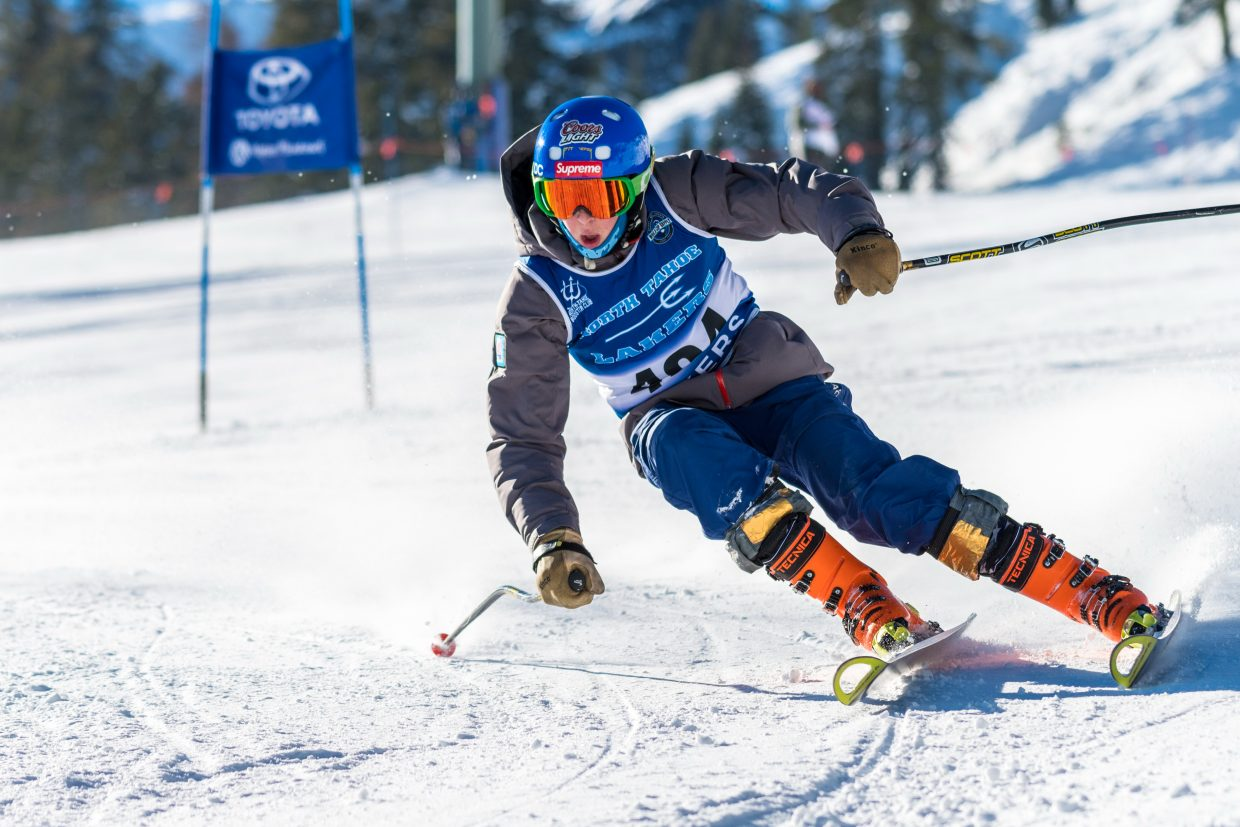 Oliver Fralick skis to a second-place finish at Alpine Meadows. For more alpine photos, visit LefrakPhotography.com.