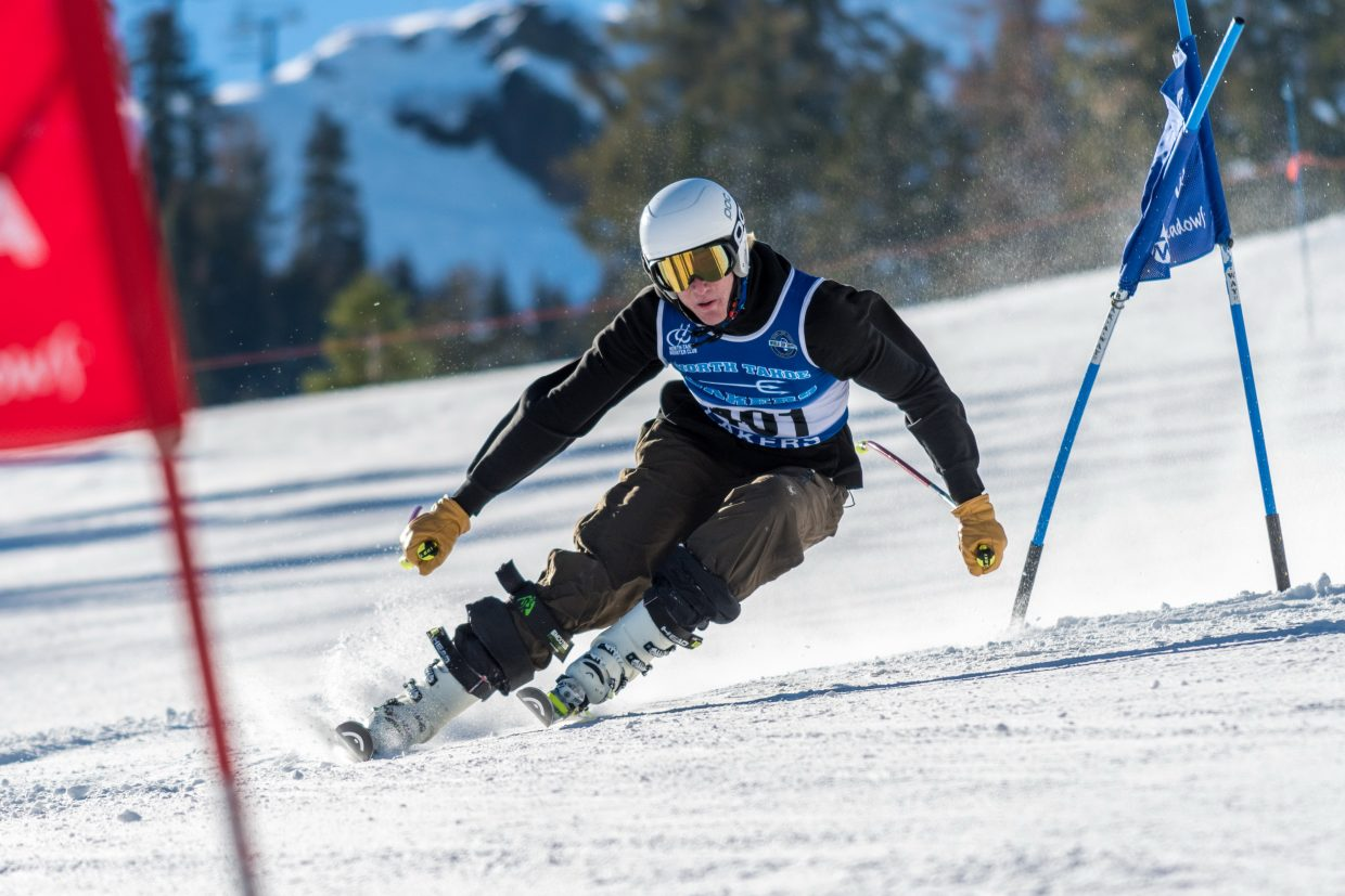 Max Kelly races to a first-place finish at Alpine Meadows on Thursday, Dec. 13. For more alpine photos, visit LefrakPhotography.com.