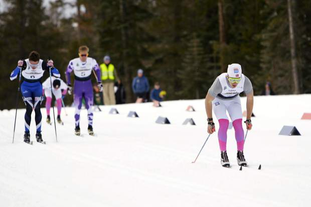 Sugar Bowl's Lance McKenney battles to a third-place finish at Auburn Ski Club on Saturday, Dec. 22.