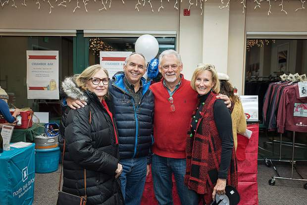 The Tahoe-Truckee community shopped among local artisans and businesses at the Local Business Holiday Market, hosted by the North Lake Tahoe Resort Association/Chamber of Commerce. Over 30 vendors comprised the event which took place over two days at North Tahoe Event Center. Pictured are Bo and Brady McClintock, Wally Auerbach and Cindy Gustafson