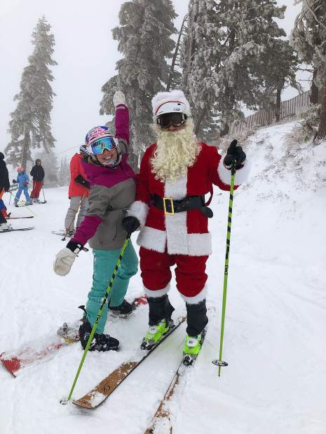 Squaw Valley Alpine Meadows awoke to a white Christmas after receiving 11 inches of new snow in 24 hours, bringing the seven day snow total to 17 inches. The resort is open for skiing and riding at both mountains, and their festive schedule of Merry Days Holly Nights events continues throughout the week.