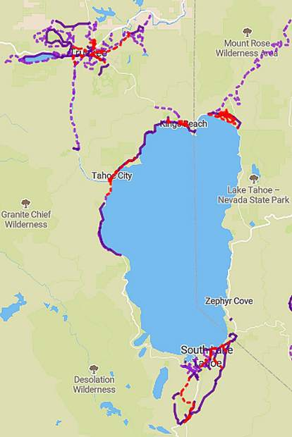 Getting traction: Lake Tahoe Bike Coalition releases online map of ...
