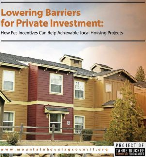 Study shows effect of impact fees on affordable housing in Truckee, North Lake Tahoe