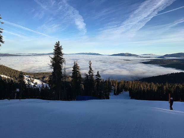 River Winquist, the coach for the Northstar Race team, took this picture while setting gates on the morning of Dec. 22, 2018.