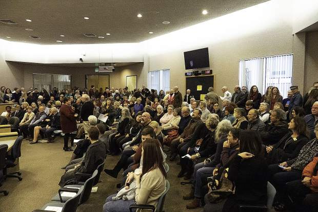 It's standing room only at the Eric Rood Administrative Center for the swearing-in ceremony Monday morning.