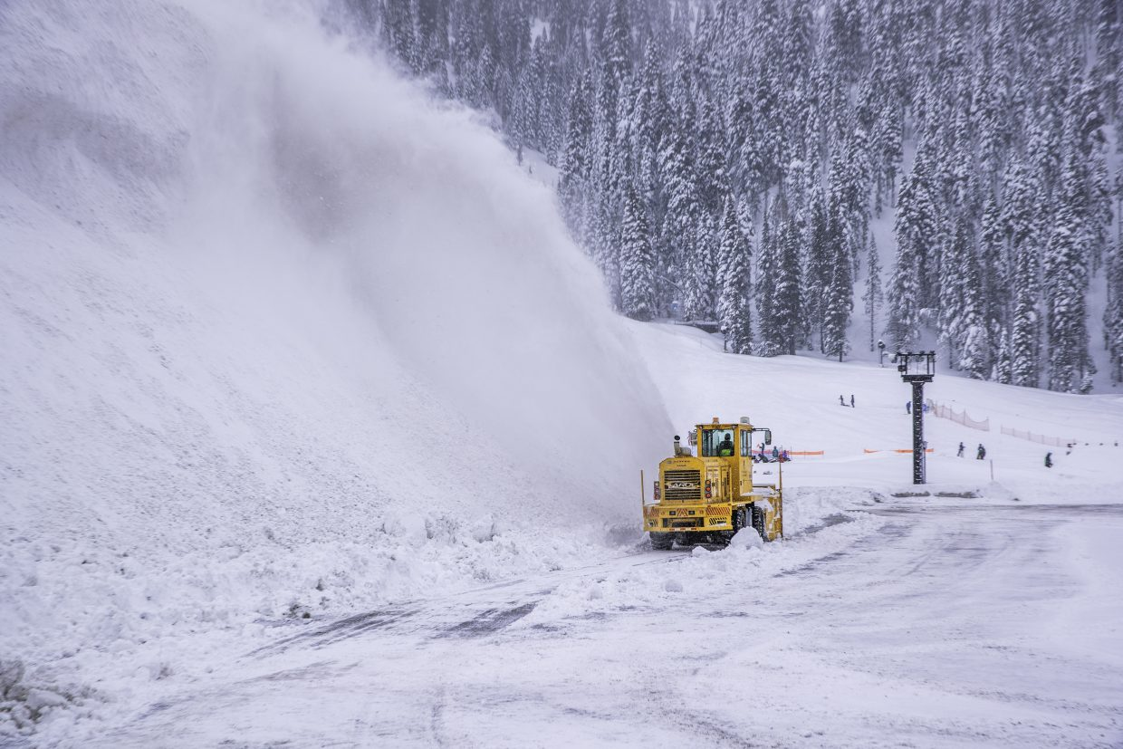 A record 286 inches of snow has fallen at Squaw Valley's upper mountain this February.