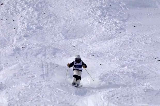 Katie Fulller, age 13 from Incline Village skis down at Sun Valley.