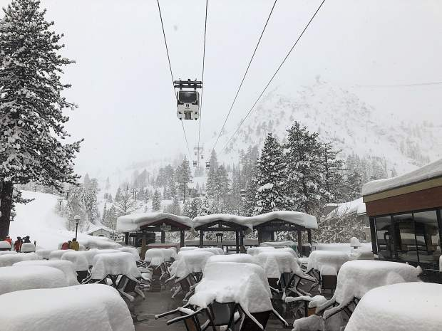 Squaw Valley received over seven feet of snow over the past weekend with Northstr reporting over six feet of snow.