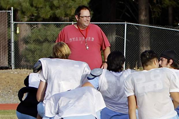 North Tahoe Head Coach Scott Everist is taking the Rams to knock off the Patriots in this year's Super Bowl.