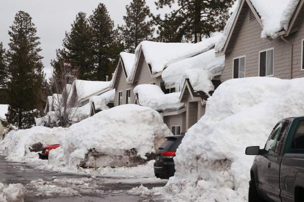 Snow levels left residents to clear out feet of snow from their driveways.